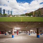 Parking and sports courts at Nuestra Sra. del Recuerdo School